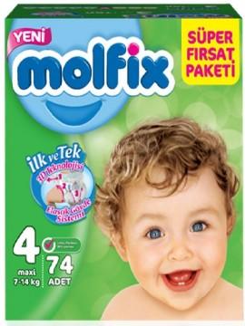 Molfix Fırsat Paketi Maxi 74'lü No 4 Çocuk Bezi