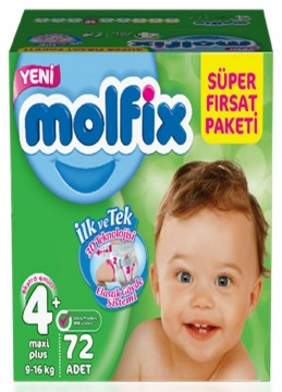 Molfix Fırsat Paketi Maxi Plus 72'li No 4 Plus Çocuk Bezi
