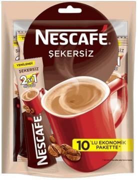 Nescafe 2 in 1 Şekersiz Kahve Çoklu Paket 10 lu