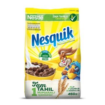 Nestle Nesquik Kahvaltılık Mısır Gevreği 450 Gr Çikolatalı