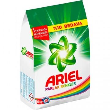 Ariel Matik Çamaşır Deterjanı 6 Kg Parlak Renkler