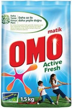 Omo Matik Çamaşır Deterjanı 1,5 Kg Active Fresh