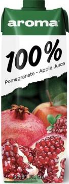 Aroma Meyve Suyu 1 Lt %100 Nar-Elma