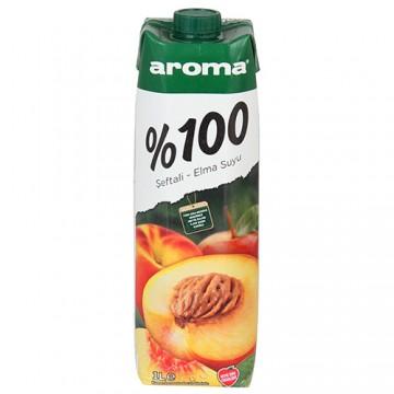 Aroma Meyve Suyu 1 Lt %100 Şeftali-Elma