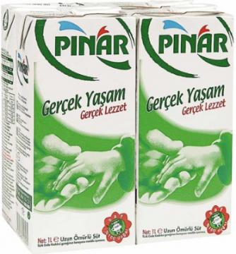 Pınar Süt 1 Lt 4 lü Tam Yağlı Uht