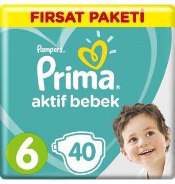 Prima Aktif Bebek Fırsat Paketi Extra Large 6 Beden 40'lı - PFP3