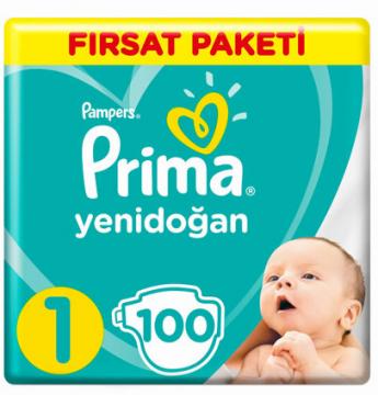 Prima Hiper Ekonomi Yenidoğan 100 lü Çocuk Bezi