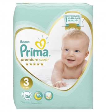 Prima Premium İkiz Midi 36 lı Çocuk Bezi - PFP3