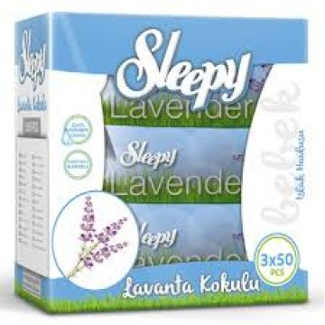 Sleepy Sensitive Islak Havlu 3x50 li Kapaklı Lavanta
