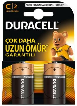Duracell Plus C Orta Boy Pil 2'li