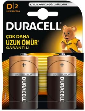 Duracell D Büyük Boy Pil 2'li - D35R