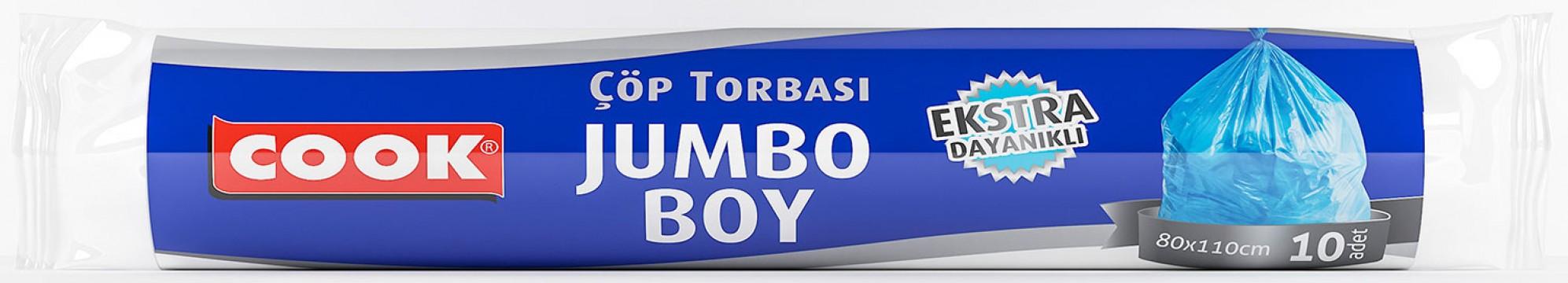 Cook Çöp Torbası 80x110 Cm Jumbo Extra 10'lu Çöp Poşeti