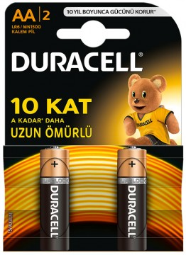 Duracell AA Kalem Pil 2'li - D35R