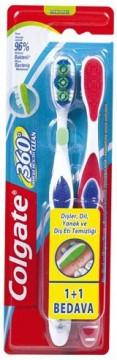 Colgate 360 Diş Fırçası 1+1 Yumuşak