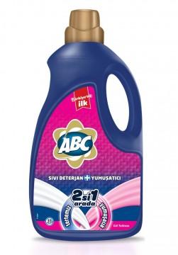 Abc Sıvı 2 si 1 Arada Çamaşır Deterjanı 2228 Gr Gül Tutkusu
