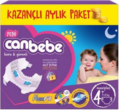 Canbebe Aylık Paket Maxiplus 50'li Çocuk Bezi