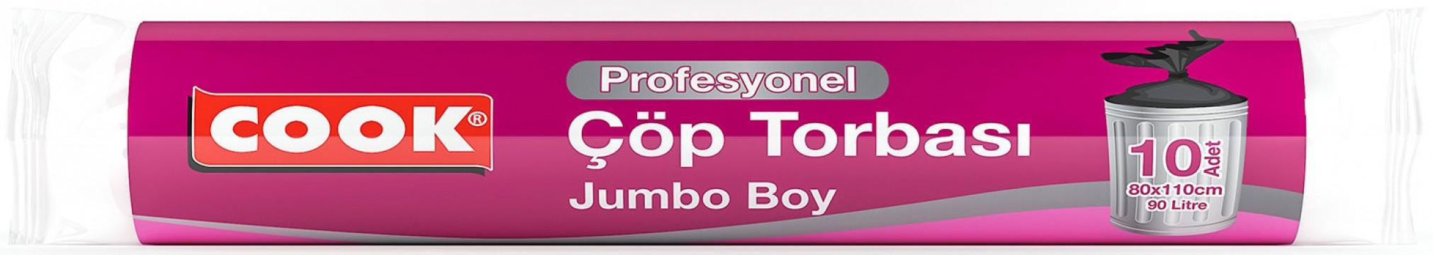 Cook Profesyonel Çöp Torbası Jumbo Boy Çöp Poşeti