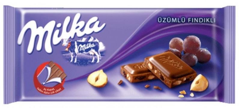 Milka Tablet 80 Gr Üzümlü Fındıklı