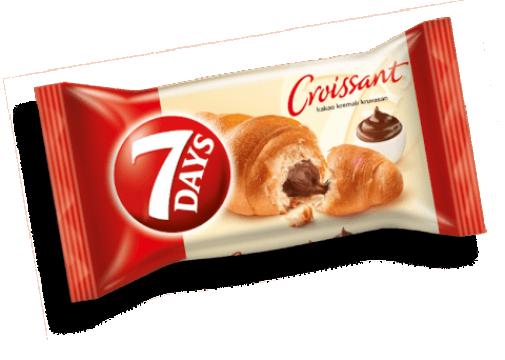 7 DAYS Tekli Kruvasan 60 Gr Kakao Kremalı