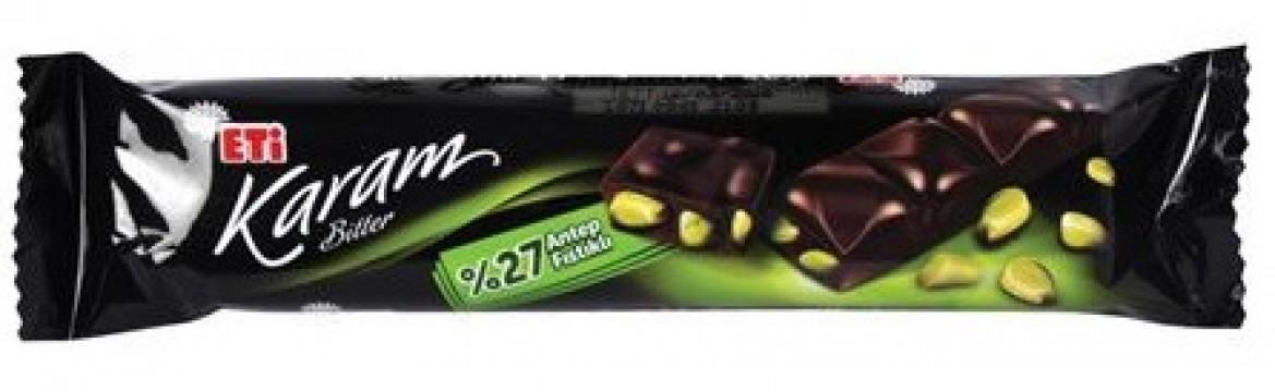 Eti Çikolata Karam 28 Gr Antep Fıstıklı Bitter
