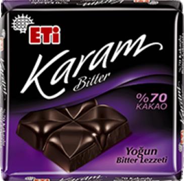 Eti Çikolata 75 Gr %70 Bitter Kare Karam