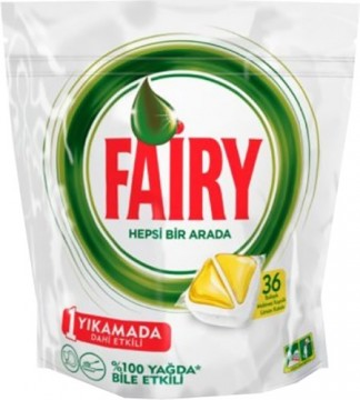 Fairy Kapsül Hepsi Bir Arada 36'lı Sarı