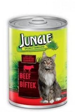 Jungle Kedi Maması 415 Gr Biftekli