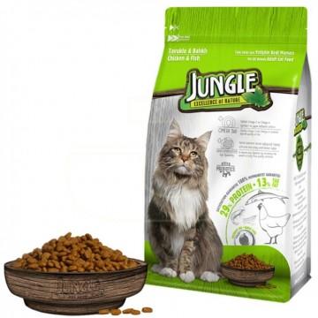 Jungle Yetişkin Kedi Maması 500 Gr Tavuk