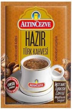Altın Cezve Hazır Türk Kahvesi Orta