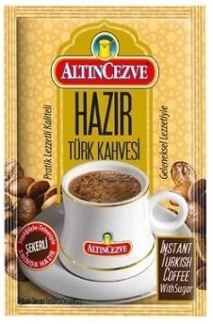 Altın Cezve Hazır Türk Kahvesi Şekerli
