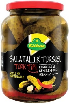 Kühne Turşu 370 ML Kornişon Türk Tipi