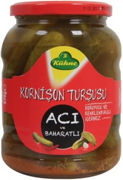 Kühne Turşu 720 ML Kornişon Acı Ve Baharatlı