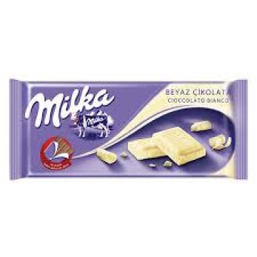 Milka Beyaz Tablet Çikolata 80 Gr